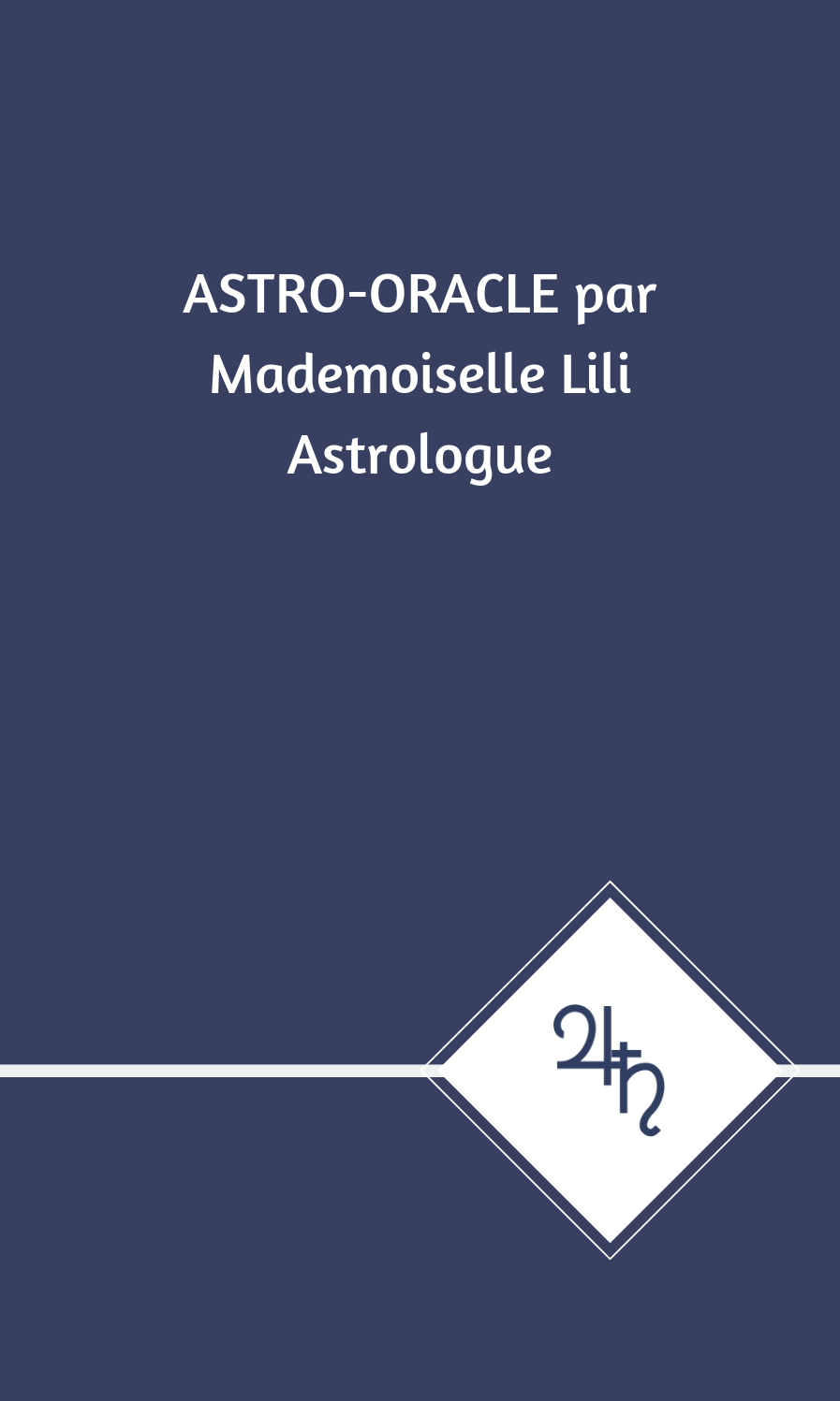 Cartes Astro-Oracle par Mademoiselle Lili Astrologue
